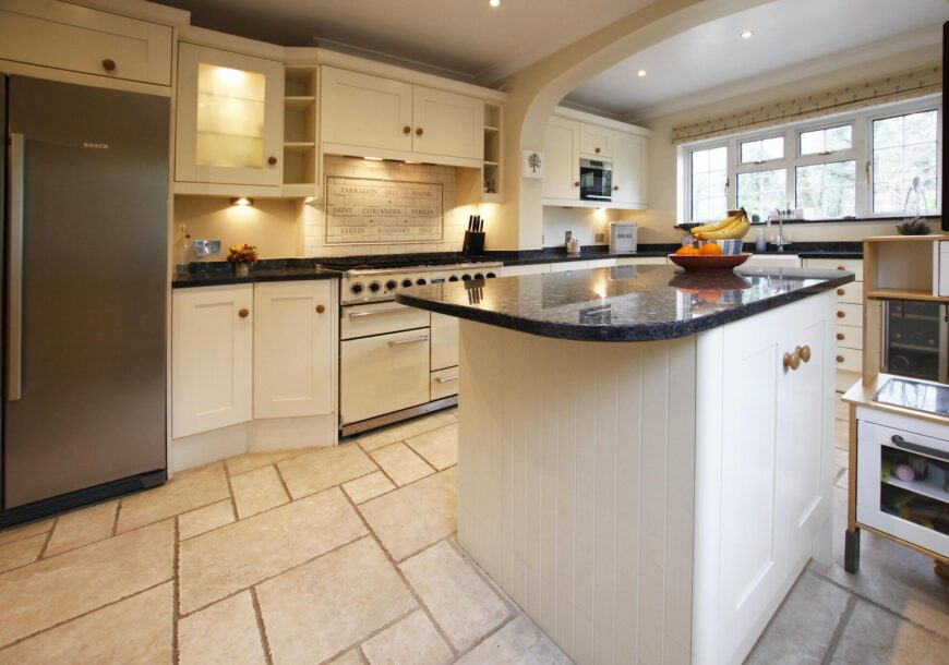Approved Used Kitchen, Painted Shaker, Falcon Range Oven, West Sussex