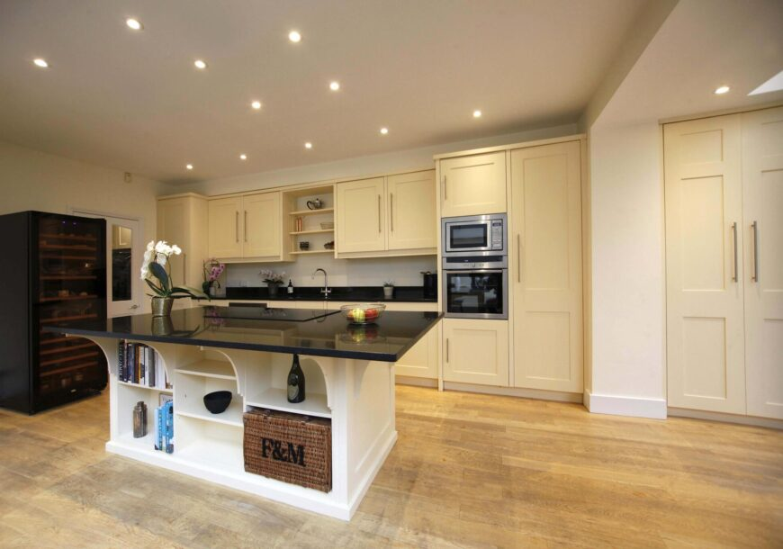 Approved Used Kitchen, Large Painted Shaker with Island, London