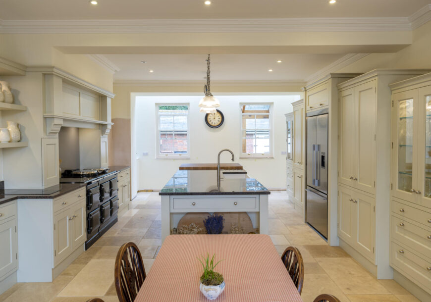Approved Used Kitchen, Edwin Loxley/Charles Yorke Painted, Fisher & Paykel Fridge Freezer, Leicestershire
