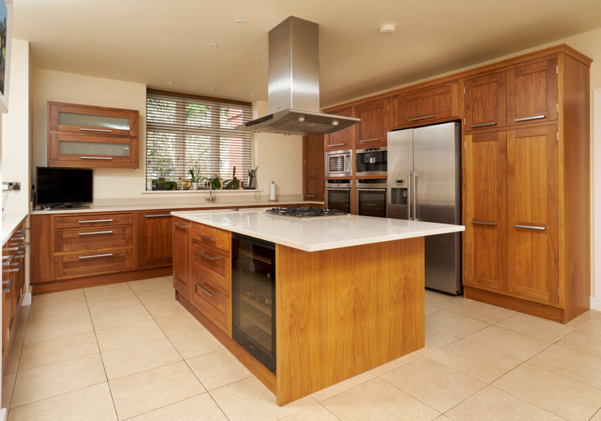 Approved Used Kitchen, Simple In-frame Shaker, Miele/NEFF Appliances, Denbighshire