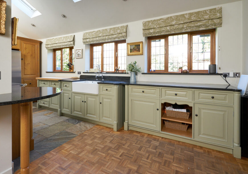 Approved Used Kitchen, Pippy Oak Bespoke Free Standing Style, Cheshire