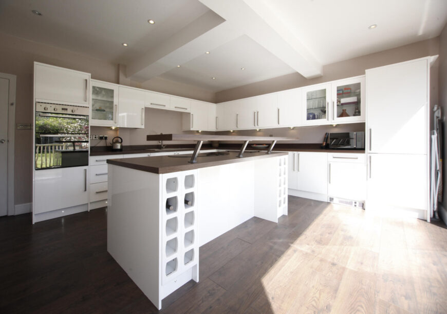 Approved Used Kitchen, Modern Gloss With Island, Kent