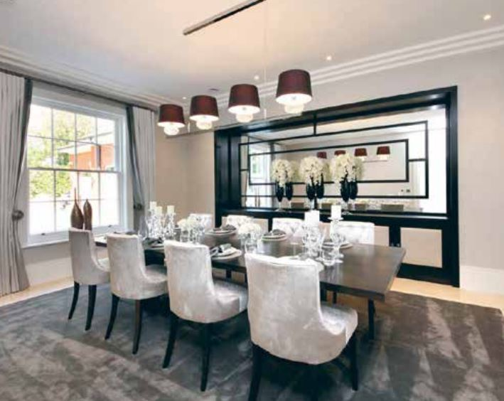 Approved Used Dining Room, Table, Chairs & Cabinetry, Surrey