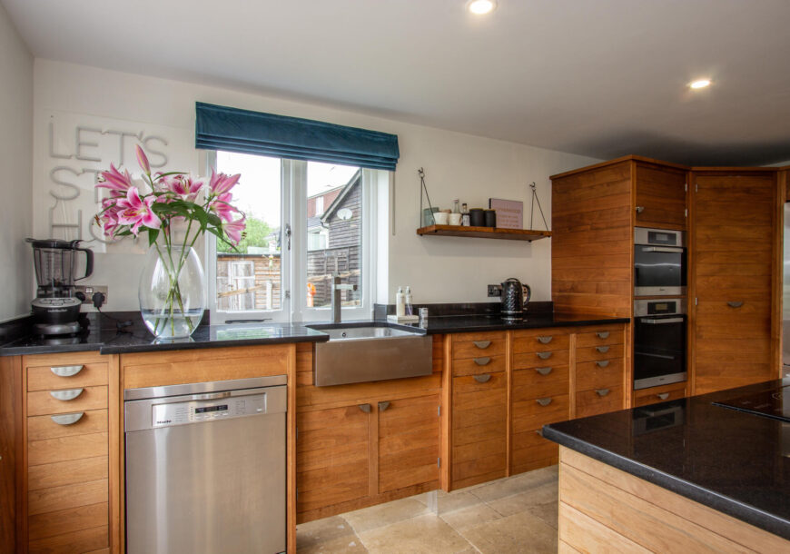 Approved Used Kitchen, Smallbone of Devizes, Walnut and Silver, Wiltshire