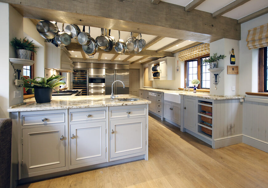 Approved Used Kitchen, Bespoke Painted In Frame, D...