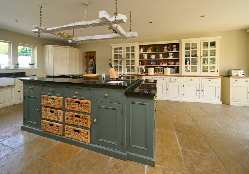 Price Pending: Approved Used Kitchen, Large Painted In Frame, Dresser, West Yorkshire