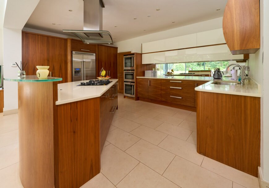 Approved Used Kitchen, Large Book-Matched Bespoke, Cheshire