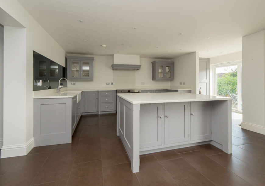 Approved Used Kitchen, Painted In Frame, Belling Range Oven, Hertfordshire