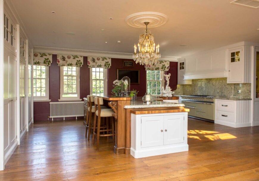 Approved Used Kitchen, Very Large Bespoke Classic, Lacanche Range Oven, Essex