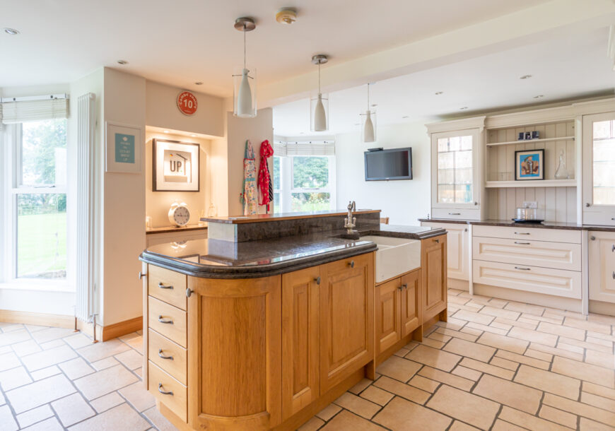 Approved Used Kitchen, Very Large Shaker, NEFF Appliances, North Yorkshire