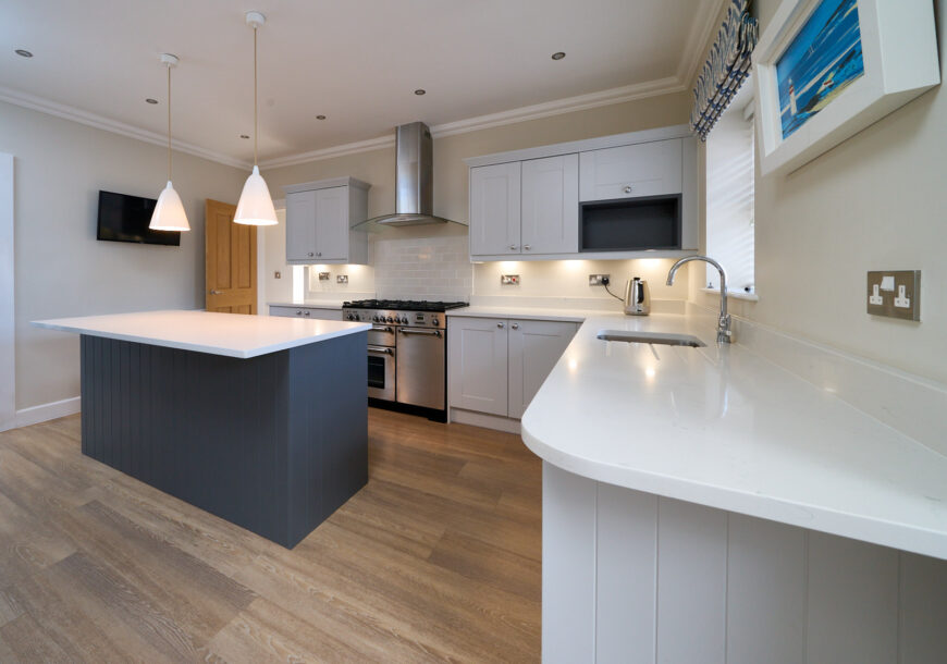 1 Year Old! Approved Used Kitchen, Modern Shaker, Rangemaster Oven, Cheshire