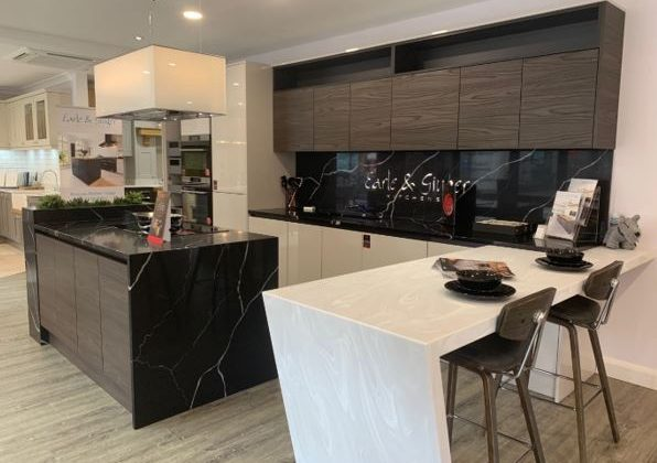 Gloss Cashmere & Dark Walnut Ex Display Kitchen
